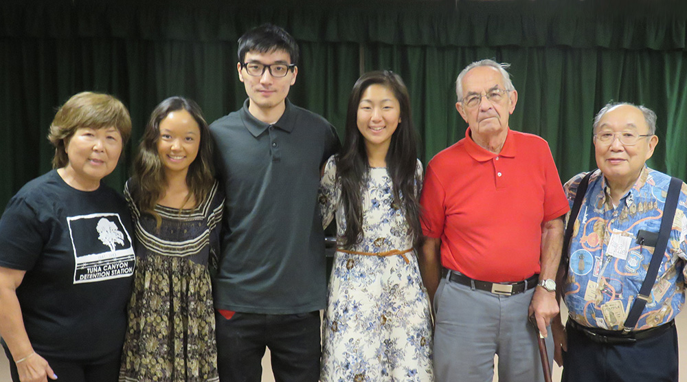 Pictured left to right: Nancy Oda, Kara Tanaka, Keith Matsushita, Ariel Imamoto, Dr. Lloyd Hitt, and Kanjji Sahara
