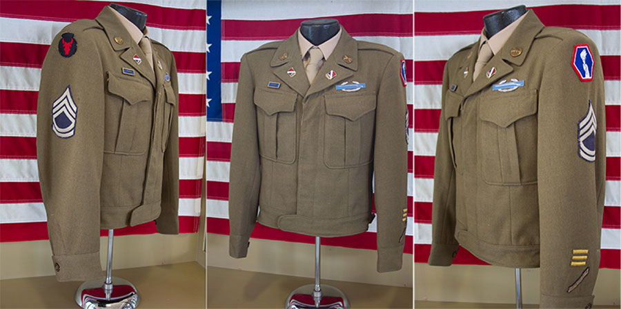 Sergeant Ted Tanouye's uniform jacket. Photograph by Nancy Teramura Hayata