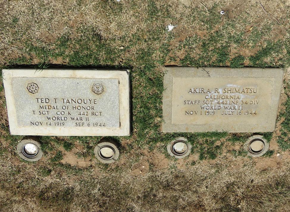 Shimatsu/Tanouye burial site at Evergreen Cemetery in Los Angeles, California. Photograph by Nancy Teramura Hayata