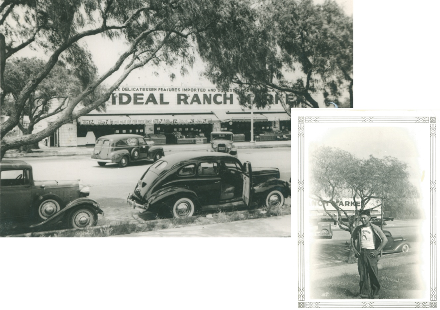 Tak in front of Ideal Ranch Market Photos provided courtesy of the Tanouye Family