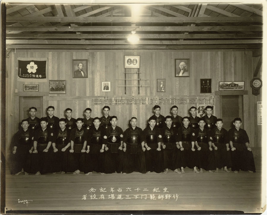 Ted Tanouye (front row, second from left) Photo provided courtesy of the Tanouye Family
