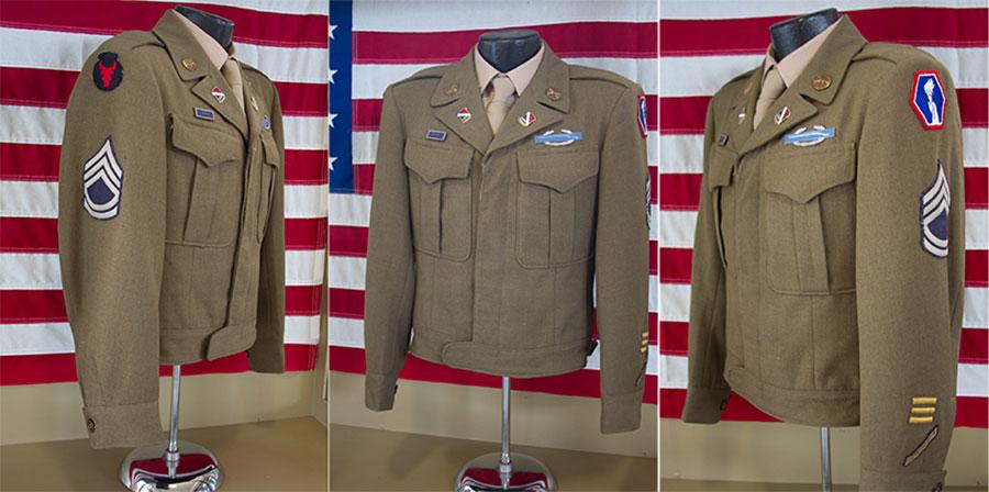 Sergeant Ted Tanouye's uniform jacket. Photograph by Nancy Teramura Hayata